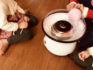 綿菓子作り