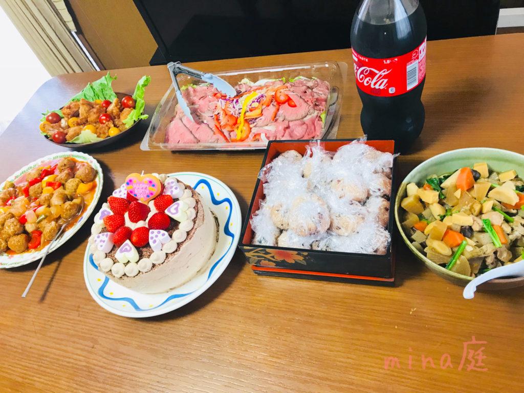 我が家の誕生日ご飯